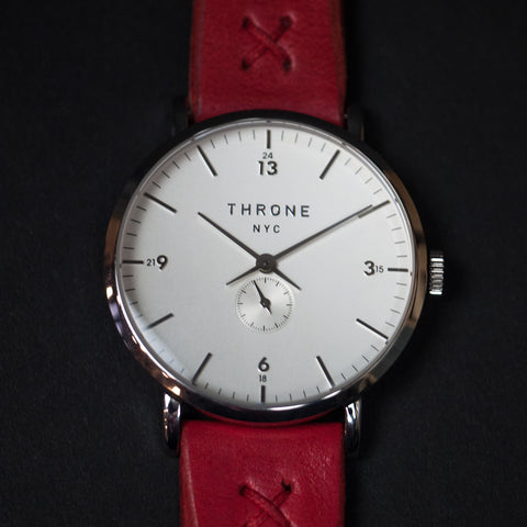 THRONE MASSES 1.0 AMERICAN MADE WATCH WHITE/RED