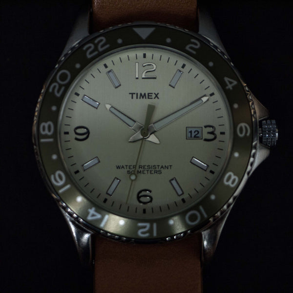 THRONE TIMEX SPORT WATCH WHITE WITH NATURAL NATO STRAP - THE LODGE  - 1