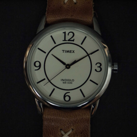 THRONE TIMEX INDIGLO WHITE W/WESTERN BAND - THE LODGE  - 1