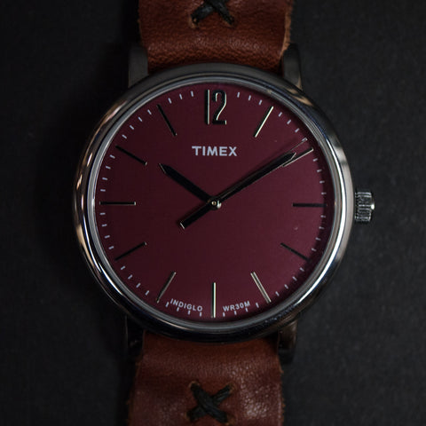 Throne Timex Red with Tan Horween Leather Strap at The Lodge