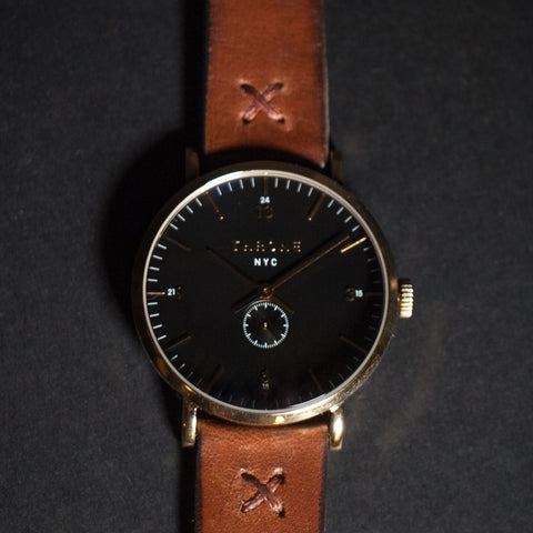 Throne Tune 1.0 Black Watch with Maple Leather Strap at The Lodge