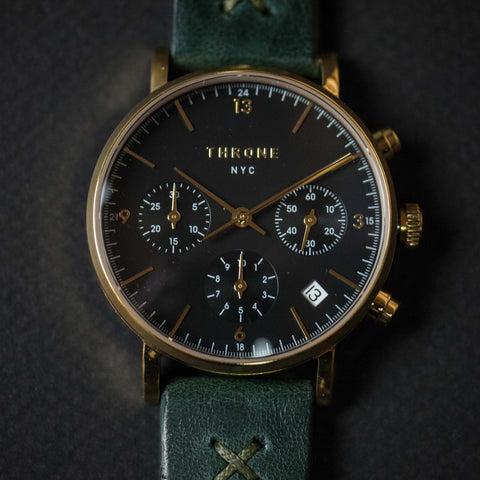 Throne 2.0 Tune Watch Black/Gold/Green at The Lodge