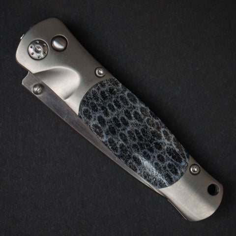 Santa Fe Stoneworks Titanium Pocket Knife Grey Brain Coral at The Lodge