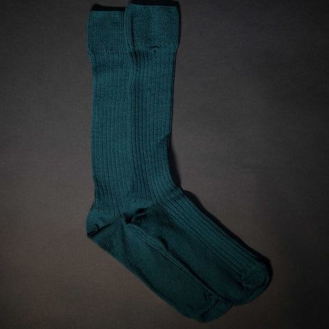 The Lodge Tompkins Merino Wool Rib Socks Hunter