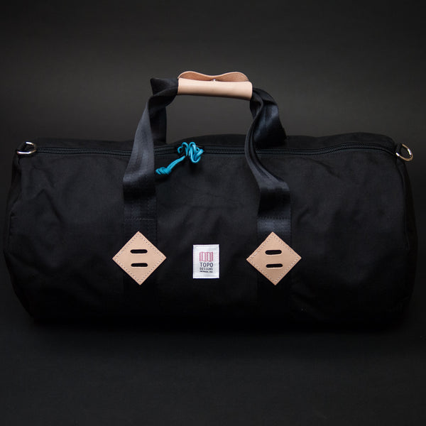 Topo Designs Black Classic Duffel at The Lodge