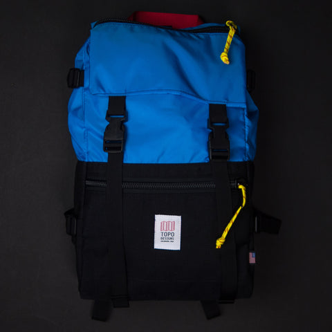 Topo Designs Royal/Black Rover Pack at The Lodge