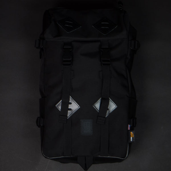 Topo Designs Klettersack Black with Black Leather at The Lodge