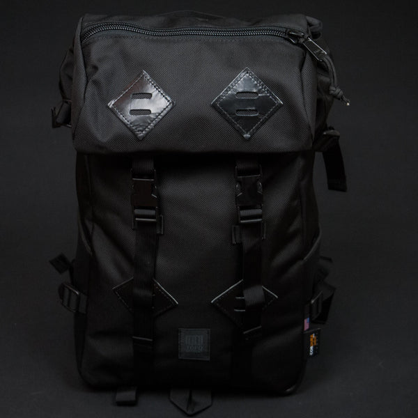 TOPO DESIGNS KLETTERSACK BLACK W/ BLACK LEATHER BACKPACK - THE LODGE  - 2