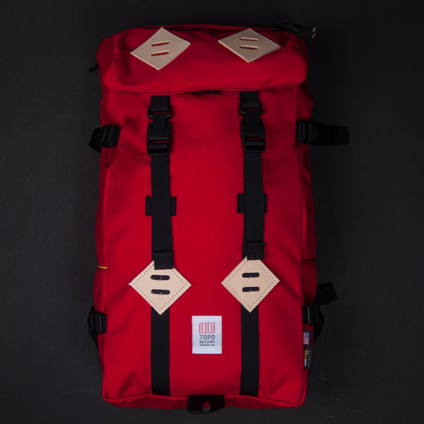 Topo Designs Red Klettersack Pack at The Lodge