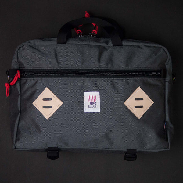 Topo Designs Mountain Briefcase Charcoal at The Lodge