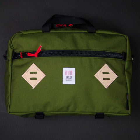 Topo Designs Mountain Briefcase Olive at The Lodge