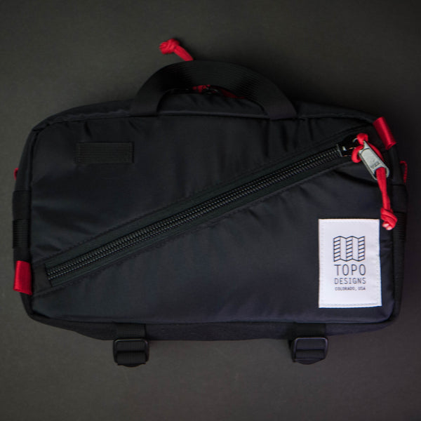 Topo Designs Quick Pack Black Waist Bag at The Lodge