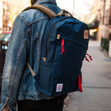 NAVY TOPO DESIGNS DAYPACK BACKPACK