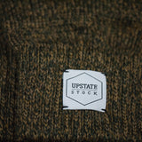 UPSTATE STOCK OLIVE MELANGE WOOL GLOVES - THE LODGE  - 2