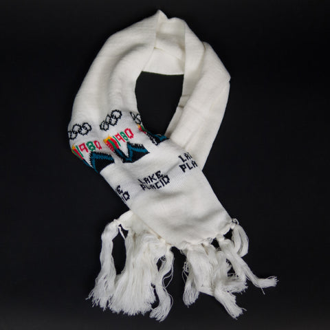WHITE DEADSTOCK 1984 OLYMPICS SCARF BY UPSTATE STOCK - THE LODGE  - 1