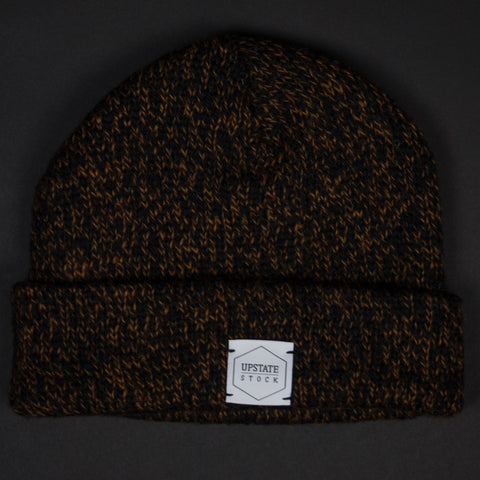 Upstate Stock Rust Heather Melange Wool Knit Hat at The Lodg