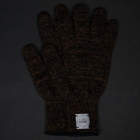 UPSTATE STOCK RUST HEATHER WOOL GLOVES - THE LODGE  - 1