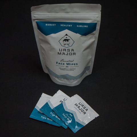 URSA MAJOR FACE WIPES 20-PACK