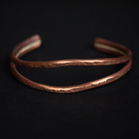 WHALES MOUTH ANTIQUED COPPER CUFF - THE LODGE  - 1