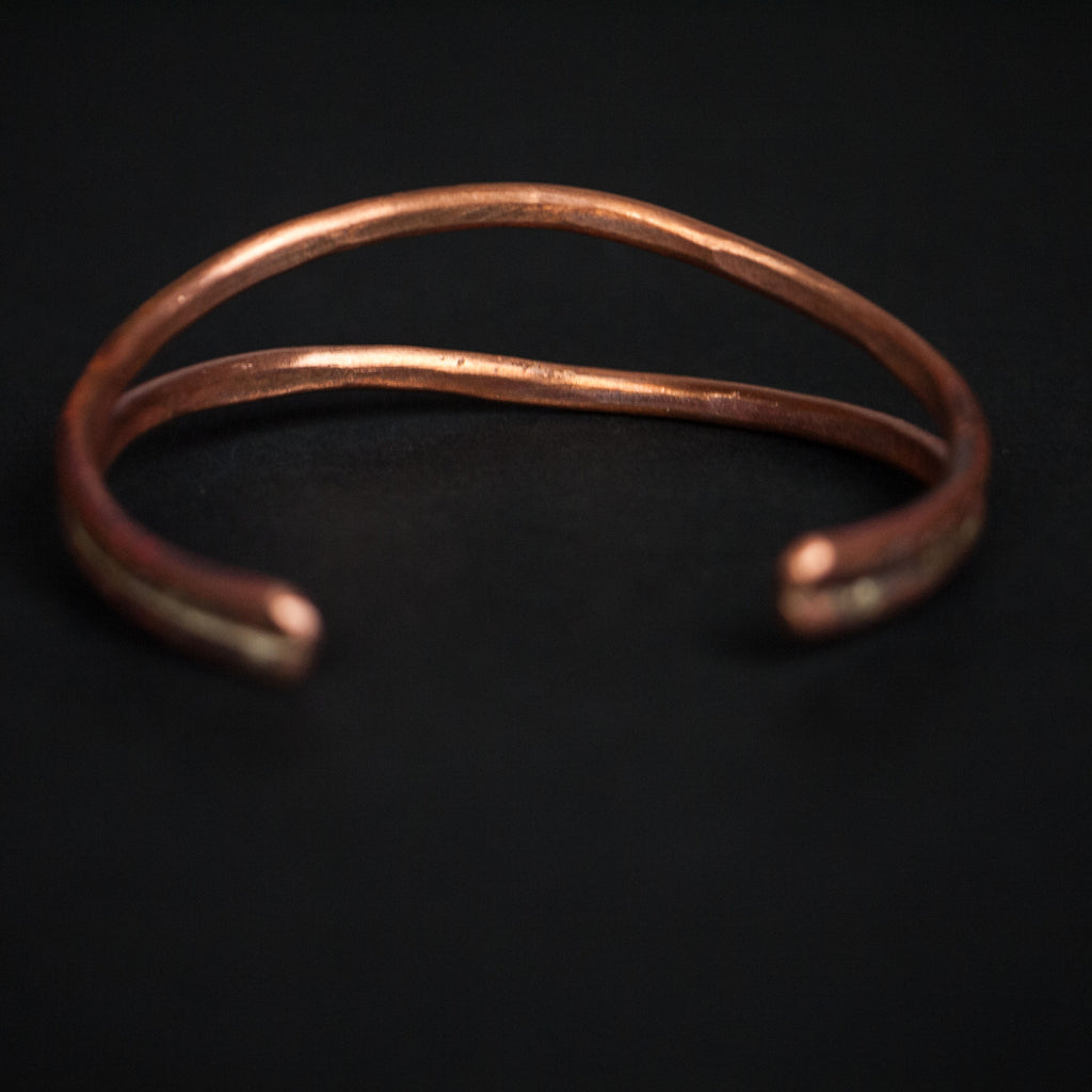 WHALES MOUTH ANTIQUED COPPER CUFF - THE LODGE  - 3