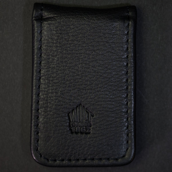 Wilt 1862 Lakeview Leather Money Clip Ash Black at The Lodge