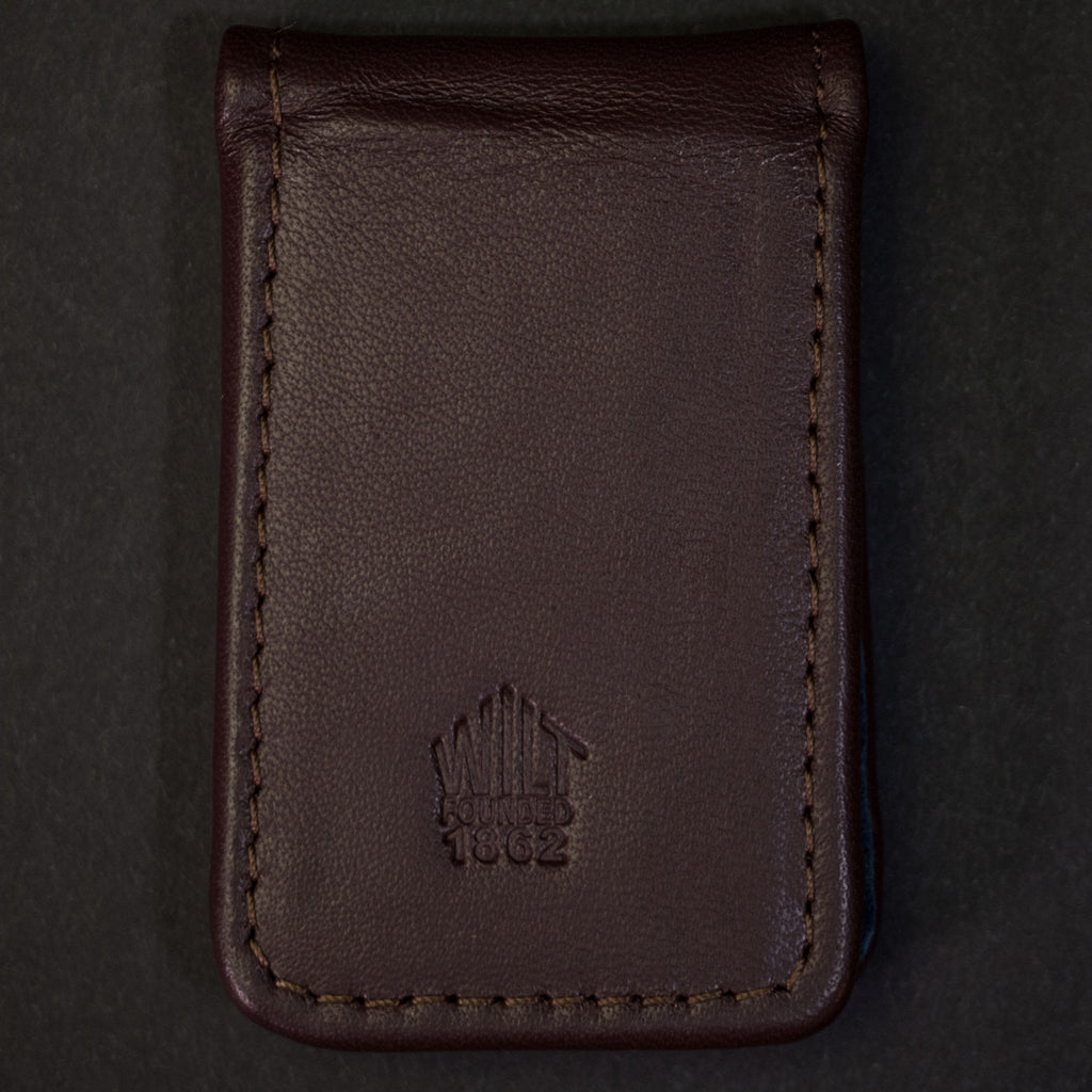 Wilt 1862 Lakeview Leather Money Clip Chocolate at The Lodge