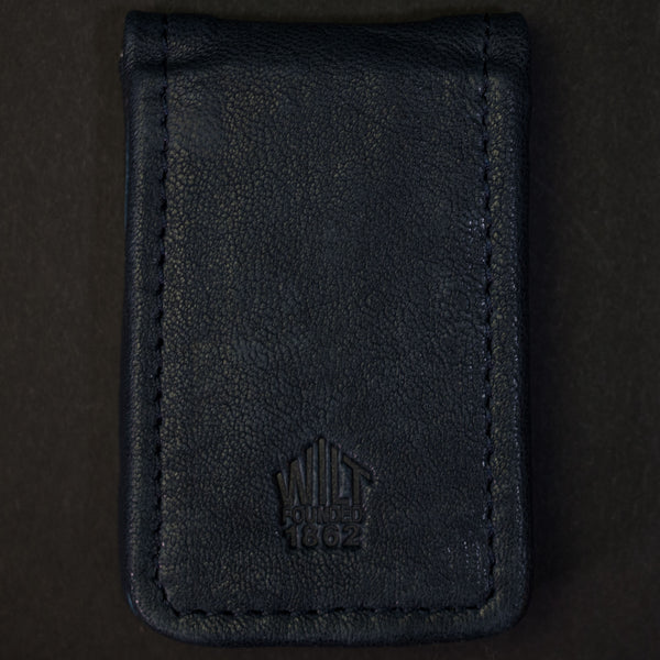 Wilt 1862 Lakeview Leather Money Clip Deep Sea Navy at The Lodge
