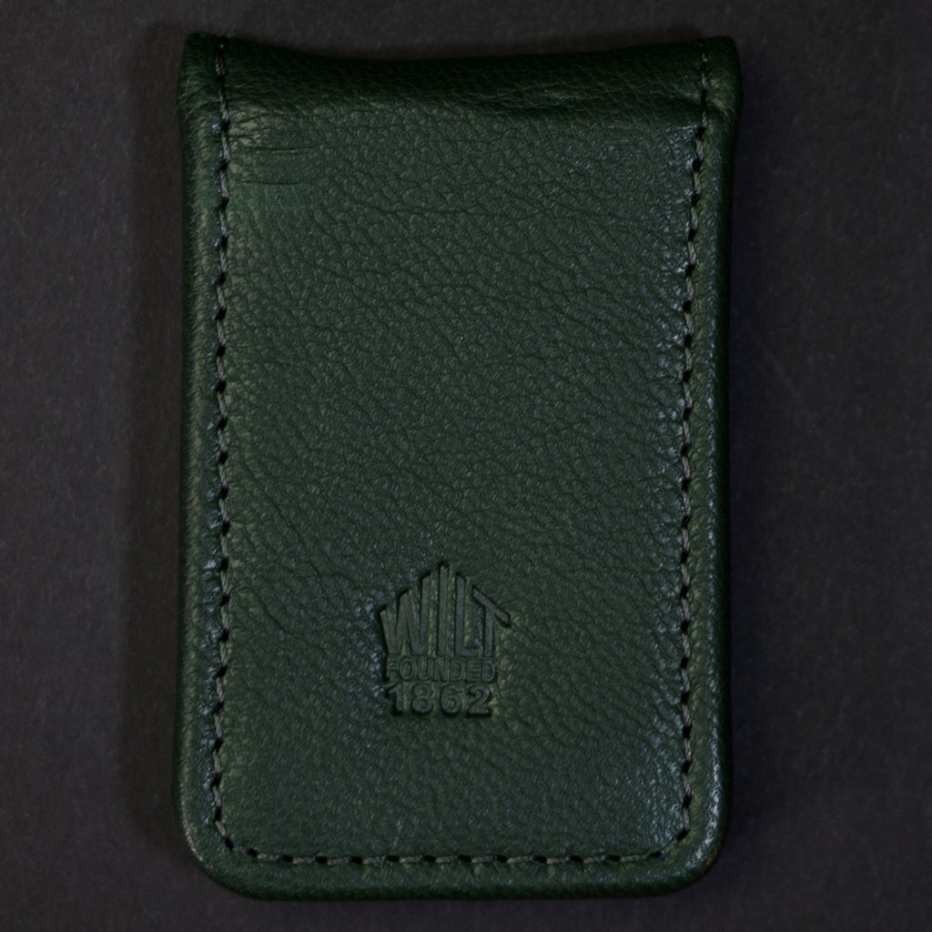 Wilt 1862 Lakeview Money Clip Hunter Green Leather at The Lodge