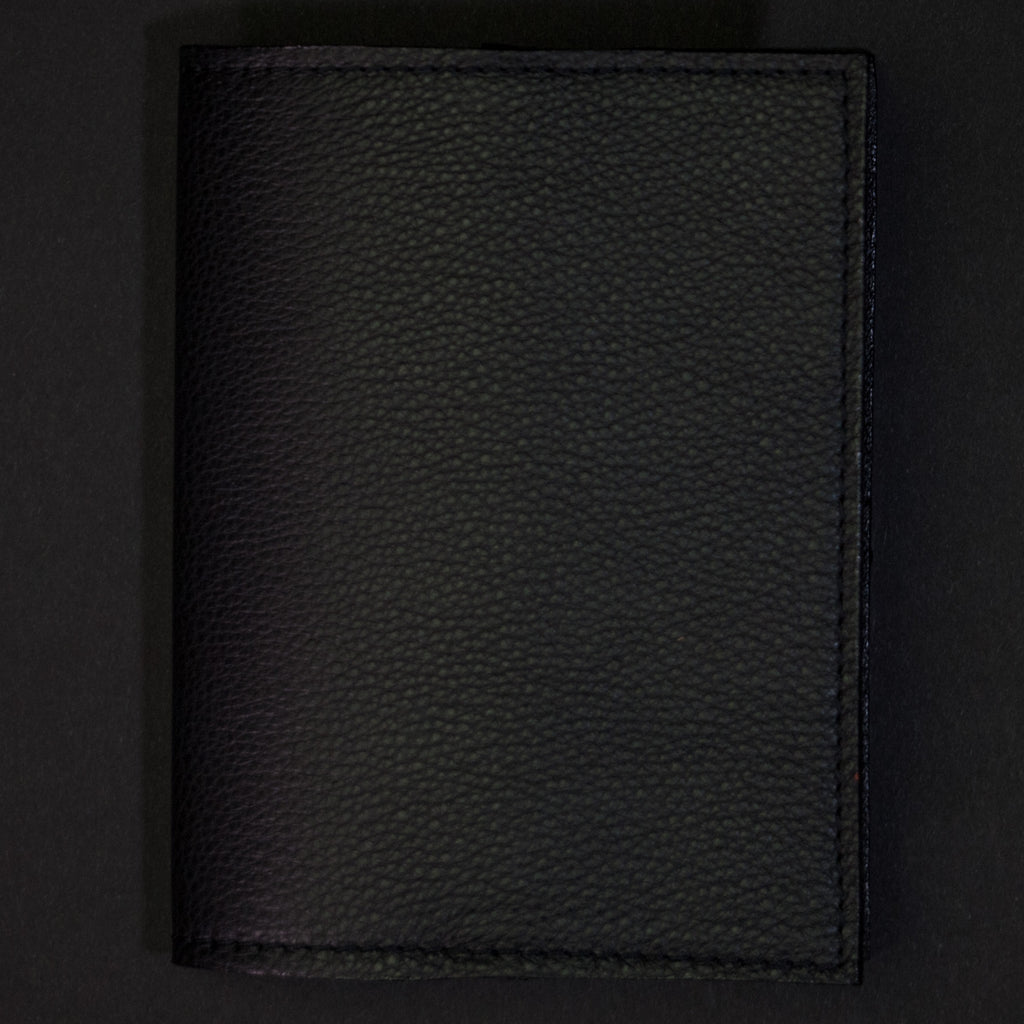 Wilt 1862 Thomas Leather Passport Wallet Ash Black at The Lodge