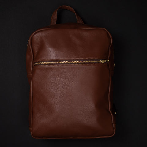 WILT BROWN LEATHER LINCOLN BACKPACK