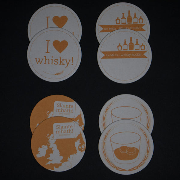 WHISKY COASTERS - THE LODGE  - 1