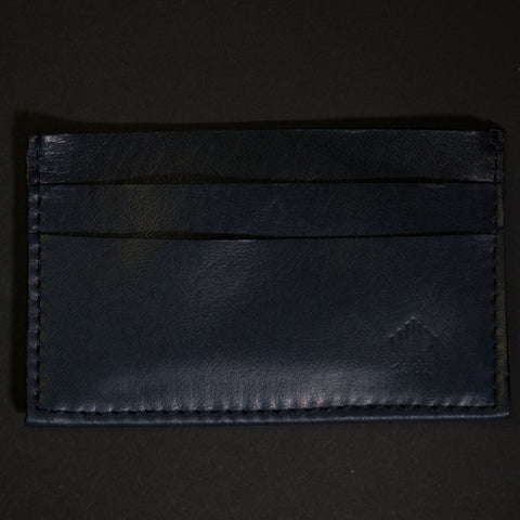 Wilt 1862 Davis Soft Leather Card Wallet Deep Sea Navy at The Lodge