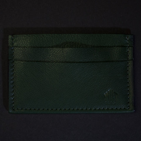 Wilt 1862 Hunter Green Davis Soft Leather Card Wallet at The Lodge