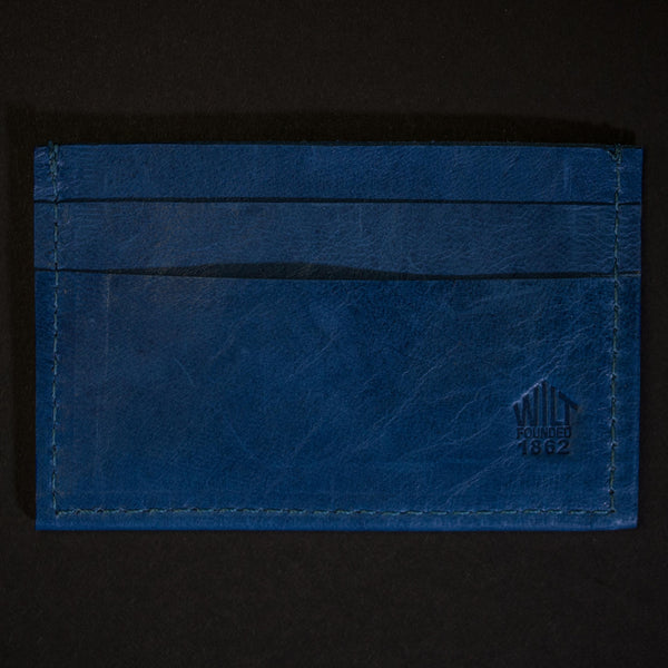 Wilt 1862 Davis Soft Leather Card Wallet Ocean Blue at The Lodge