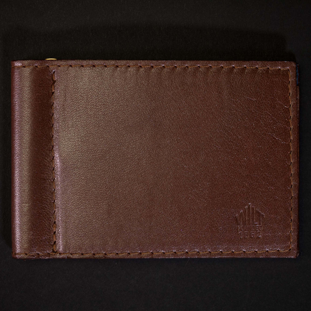 Wilt 1862 Wabash Money Clip Leather Wallet Bourbon at The Lodge