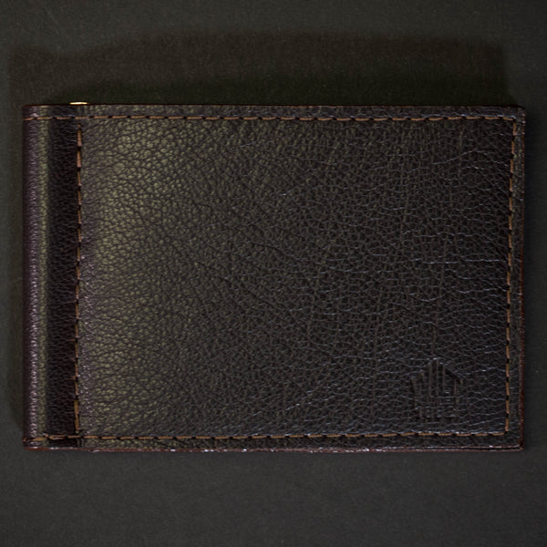 Wilt 1862 Wabash Money Clip Leather Wallet Chocolate at The Lodge