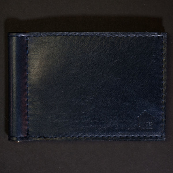 Wilt 1862 Wabash Money Clip Leather Wallet Deep Sea Navy at The Lodge