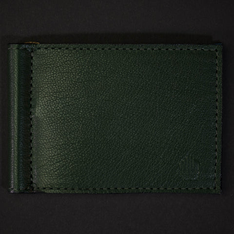 Wilt 1862 Wabash Money Clip Leather Wallet Hunter Green at The Lodge