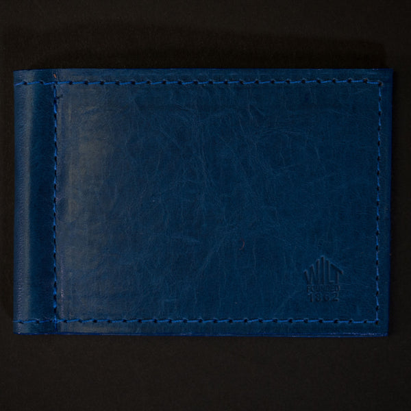 Wilt 1862 Wabash Money Clip Leather Wallet Ocean Blue at The Lodge