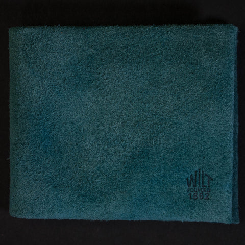 Wilt 1862 Blue Sky Suede Billfold at The Lodge Man Shop