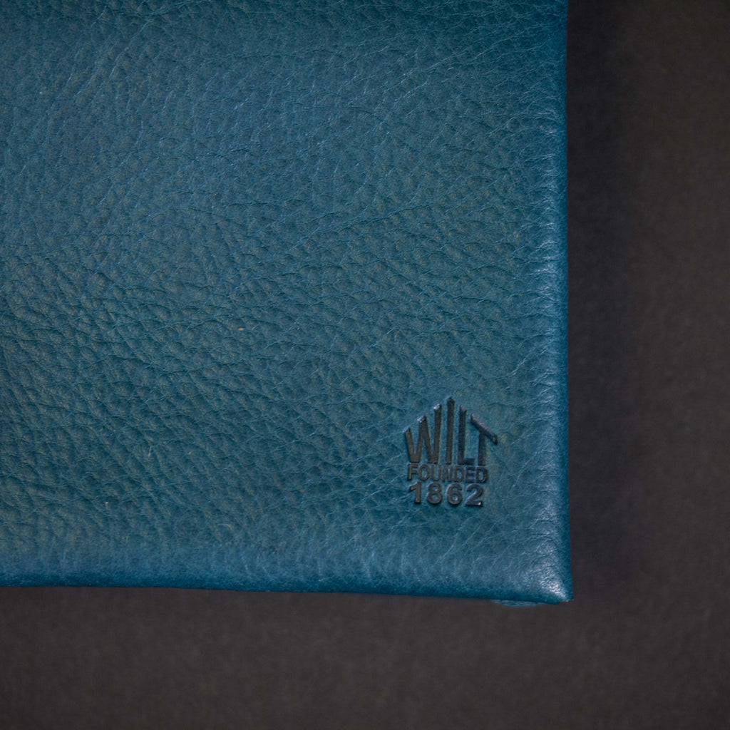 EVANSTON BLUE WILT 1862 SOFT LEATHER BILLFOLD WALLET