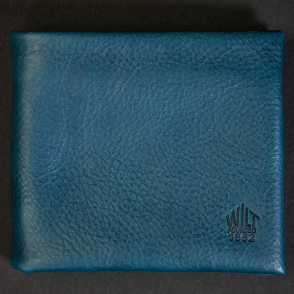 Wilt 1862 Evanston Blue Soft Leather Billfold at The Lodge