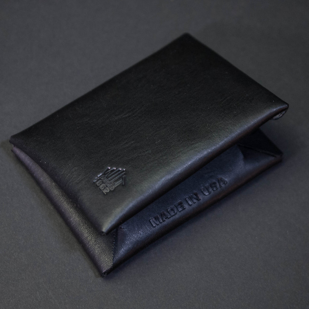 BLACK WILT 1862 BUCKTOWN LEATHER CARD WALLET