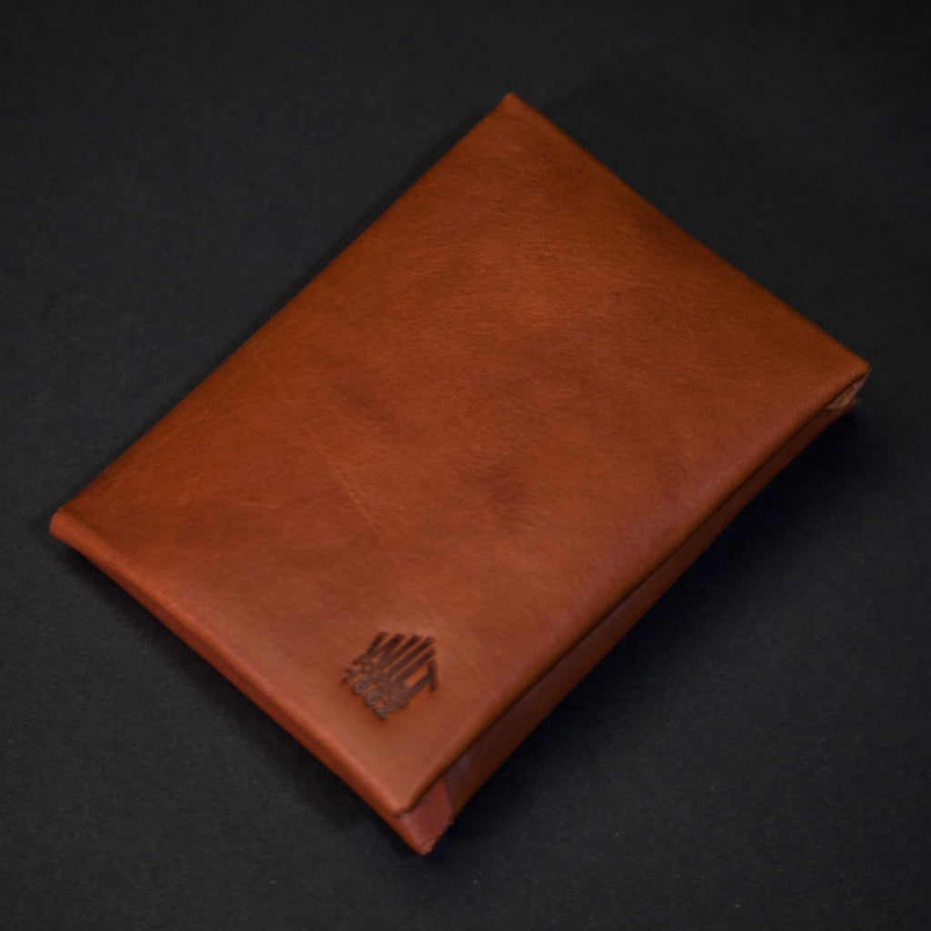 WHISKEY WILT 1862 BUCKTOWN LEATHER CARD WALLET