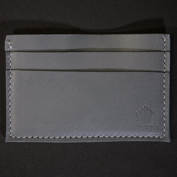 Wilt 1862 Davis Soft Leather Card Wallet Grey at The Lodge