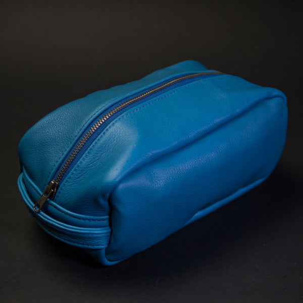 LAKE BLUE WILT LEATHER PEARY TRAVEL KIT