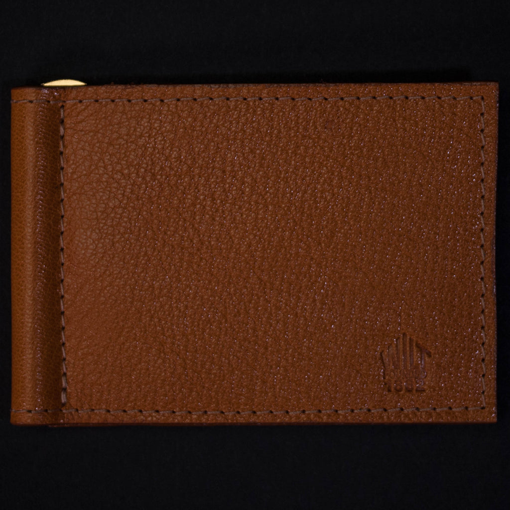 Wilt 1862 Wabash Money Clip Leather Wallet Golden Tan at The Lodge