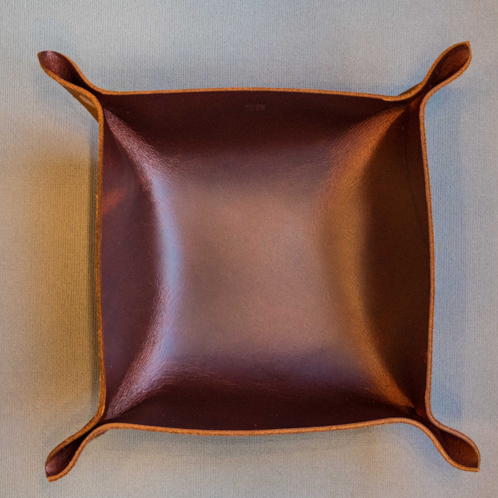 WILT SMALL RUSSET MANTRAY™ VALET TRAY HORWEEN LEATHER