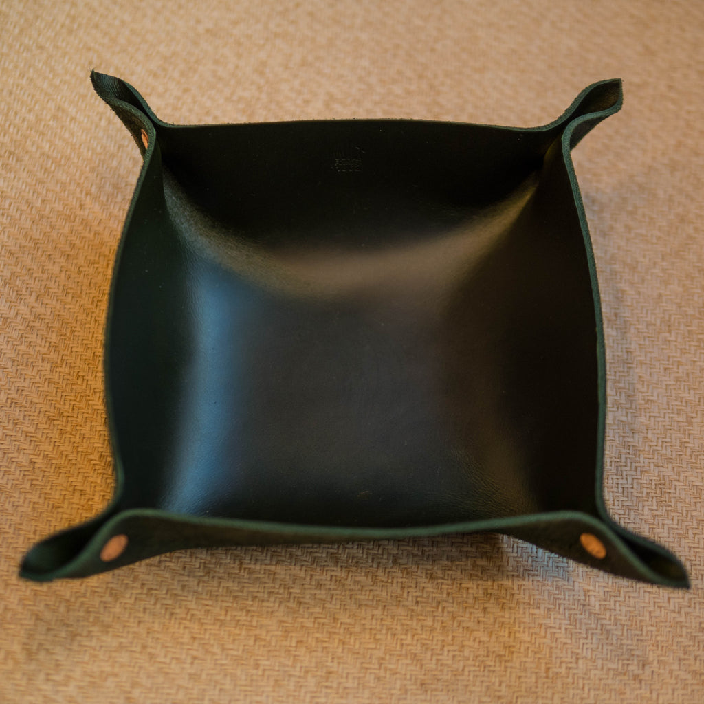 WILT LARGE HUNTER MANTRAY™ VALET TRAY HORWEEN LEATHER