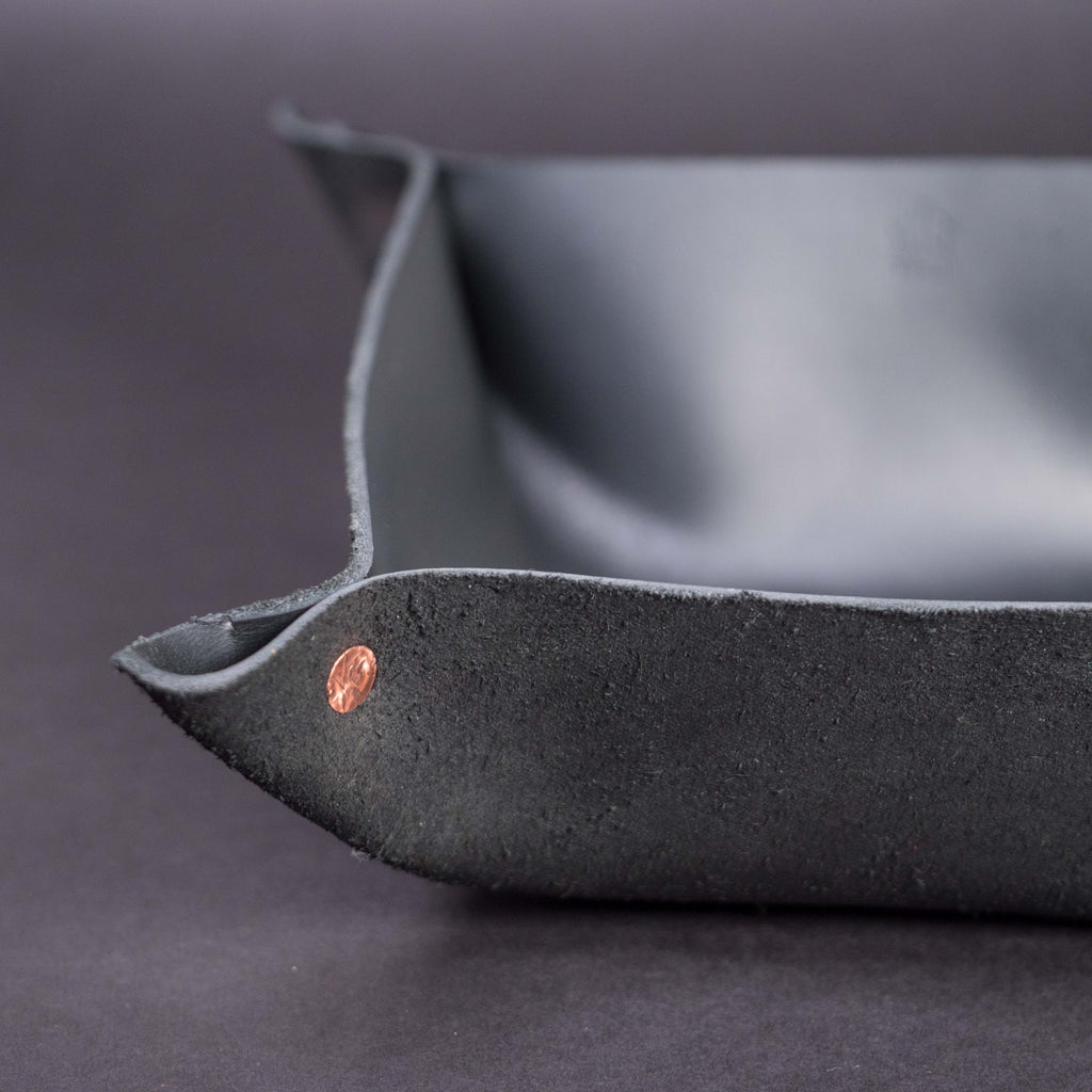 WILT LARGE BLACK MANTRAY™ VALET TRAY HORWEEN LEATHER